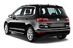 Car pictures of rear three quarter view of a 2014 Volkswagen GOLF SPORTSVAN Highline 5 Door Mini MPV 2WD Angular Rear