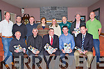 PLAN: At the Ballymacelligott GAA Club 5year plan 2013-2018, in O'Riadas Bar & Restaurant, Ballymacelligotts on Saturday night. Front l-r: Jerome McEllistrim (PRO), Stephen O'Brien (Chairman), Padraig O'Sullivan (Chairman Kerry County Board), Kieran Savage (secretary) and Tim Murphy (dev-officer Ballymacelligott GAA Club). Back l-r: Ger Collins, Donal O'Reilly, Gene Moriarty and Kevin leen (treasurer).