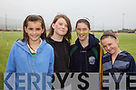At the ladies football blitz in Portmagee on Saturday in aid Brest Cancer were l-r; Fiona Keating, Rebecca McAleese, Tara O'Sullivan & Ciara O'Sullivan.
