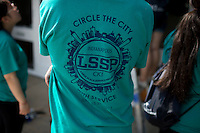 "The group t-shirt is seen during ""Circle the City with Service,"" the Kiwanis Circle K International's 2015 Large Scale Service Project, on Wednesday, June 24, 2015, at the Friendship Westside Center for Excellence in Indianapolis. (Photo by James Brosher)"