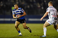 Jonathan Joseph of Bath Rugby in possession. Premiership Rugby Cup match, between Bath Rugby and Gloucester Rugby on February 3, 2019 at the Recreation Ground in Bath, England. Photo by: Patrick Khachfe / Onside Images