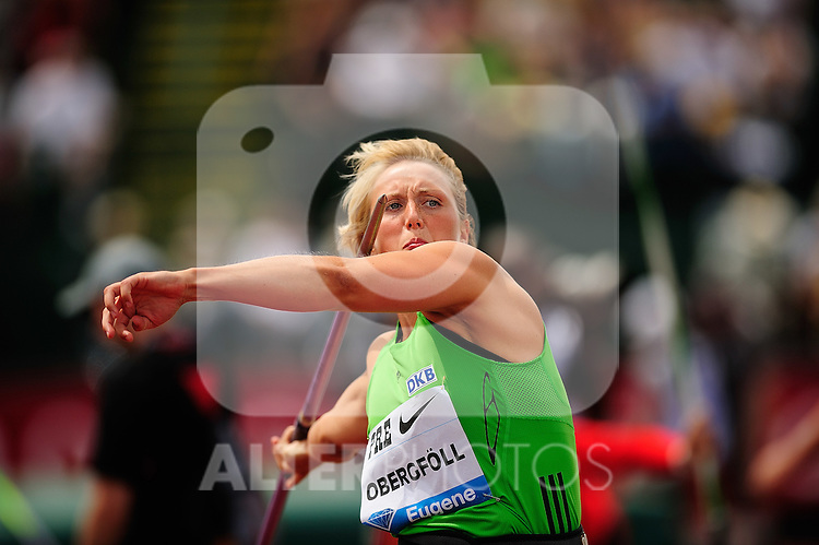 04.06.2011, Eugene, USA, Prefontaine Classic Track Meet, im Bild Christina Obergfoll (GER) placed frist in the women's javelin with a throw of 65.48 meters at the Prefontaine Classic at Hayward Field in Eugene, Oregon..June 4, 2011. EXPA Pictures © 2011, PhotoCredit: EXPA/ New Sport Photo +++++ ATTENTION - OUT OF USA  +++++