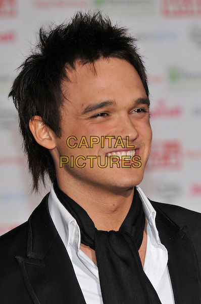 GARETH GATES.Children's Champions 2008.Renaissance Chancery Court Hotel, High Holborn, London, England.12th March 2008.awards arrivals portrait headshot black scarf.Ref: CAP/PL.?Phil Loftus/Capital Pictures.