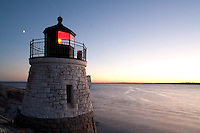Castle Hill lighthouse, Narragansett Bay evening, Newport, RI