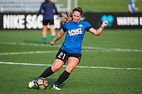 Kansas City, MO - Thursday August 10, 2017: Caroline Flynn during a regular season National Women's Soccer League (NWSL) match between FC Kansas City and the North Carolina Courage at Children's Mercy Victory Field.