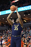 CHARLOTTESVILLE, VA - MARCH 03: Notre Dame's Bonzie Colson. The University of Virginia Cavaliers hosted the University of Notre Dame Fighting Irish on March 3, 2018 at John Paul Jones Arena in Charlottesville, VA in a Division I men's college basketball game. Virginia won the game 62-57.