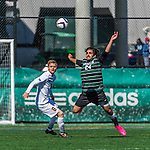 3 October 2015: Binghamton University Bearcat Forward Nikos Psarras, a Freshman from Malesina, Greece, in action against the University of Vermont Catamounts at Virtue Field in Burlington, Vermont. The Bearcats held on to defeat the Catamounts 2-1 in America East conference play. Mandatory Credit: Ed Wolfstein Photo *** RAW (NEF) Image File Available ***