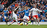 Dean Shiels scores the opening goal for Rangers after two minutes