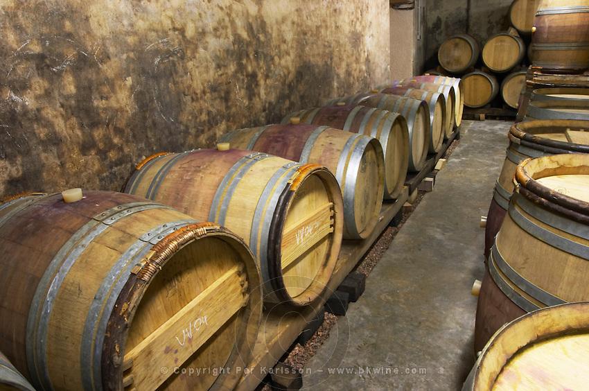 barrel aging cellar dom a voge cornas rhone france