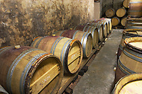 barrel aging cellar dom a voge cornas rhone france