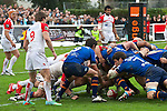 biarritz. pais vasco. rugby<br /> rugby match during the rugby french league, 02-03-14<br /> En la imagen :<br /> lesgourgues (bo) , belie (ab)<br /> photocall3000 / rme