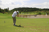 Michael Jonzon (SWE) tees off on the par3 17th tee during Sundays Final Round 3 of the 54 hole Iskandar Johor Open 2011 at the Horizon Hills Golf Resort Johor, Malaysia, 19th November 2011 (Photo Eoin Clarke/www.golffile.ie)