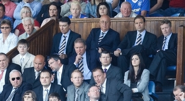 Ally McCoist in the directors box
