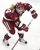 Leanna Coskren (Harvard - 24) - The Harvard University Crimson defeated the Northeastern University Huskies 4-3 (SO) in the opening round of the Beanpot on Tuesday, February 8, 2011, at Conte Forum in Chestnut Hill, Massachusetts.