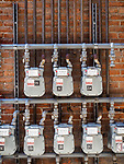 Gas meters, Historic copper mining city of Butte, Montana