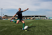 Players warming up during the 2019/20 Pre Season Friendly match between Ealing Trailfinders and Bishop's Stortford at Castle Bar , West Ealing , England  on 24 August 2019. Photo by Alan  Stanford / PRiME Media images