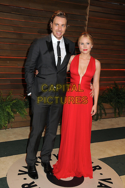 02 March 2014 - West Hollywood, California - Dax Shepard, Kristen Bell. 2014 Vanity Fair Oscar Party following the 86th Academy Awards held at Sunset Plaza.  <br /> CAP/ADM/BP<br /> &copy;Byron Purvis/AdMedia/Capital Pictures