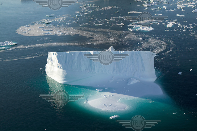 Icebergs off the coast of Greenland.