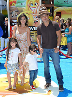 Mario Lopez, Courtney Laine Mazza, Dominic Lopez, Gia Francesca Lopez at the world premiere for &quot;The Emoji Movie&quot; at the Regency Village Theatre, Westwood. Los Angeles, USA 23 July  2017<br /> Picture: Paul Smith/Featureflash/SilverHub 0208 004 5359 sales@silverhubmedia.com