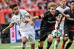 12.05.2018, BayArena, Leverkusen, GER, 1.FBL, Bayer 04 Leverkusen vs Hannover 96, im Bild v. li. im Zweikampf Maina Linton (#40, Hannover 96) Tin Jedvaj (#16, Bayer 04 Leverkusen) <br /> <br /> <br /> <br /> Foto &copy; nordphoto/Mauelshagen