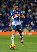 30th October 2017, Cornella-El Prat, Cornella de Llobregat, Barcelona, Spain; La Liga football, Espanyol versus Real Betis; Leo Baptistao of Espanyol looks for an outlet