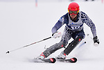 FRANCONIA, NH - MARCH 10: Chris Steinke of New Hampshire participates in the men's slalom at the Division I Men's and Women's NCAA Skiing Championships held at Jackson Ski Touring on March 10, 2017 in Jackson, New Hampshire. (Photo by Gil Talbot/NCAA Photos via Getty Images)