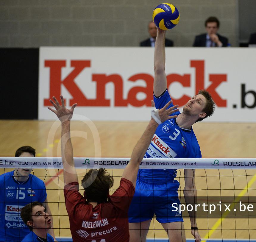 Knack Roeselare - Precura Antwerpen : Joppe Paulides (3) <br /> foto VDB / BART VANDENBROUCKE