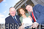 Michael Hennebery of Hennebery Sports, Siobhain Colbert Mozards, and Solicitor Matt Breslin with a petition to keep the courthouse in Ashe Street.   Copyright Kerry's Eye 2008