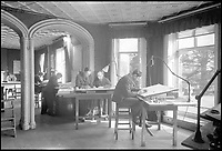 BNPS.co.uk (01202 558833)<br /> Pic: NationalTrust/BNPS<br /> <br /> Top Secret  - Several of the elegant rooms at Hughenden were used for the deadly work.<br /> <br /> Secret rooms at a stately home where brilliant map-makers played a pivotal role in helping Britain to win the war have been opened to the public for the first time.<br /> <br /> Hughenden Manor, in Bucks, once home to the Victorian prime minster Benjamin Disraeli, was requisitioned by the Air Ministry in 1941 and given the codename 'Hillside'.<br /> <br /> In its confines, more than 3,500 hand drawn maps were produced for the RAF bombing campaigns, including the legendary Dambusters Raid and a raid on the Berchtesgaden, Hitler's famous mountain retreat.<br /> <br /> Previously hidden away under lock and key, these rooms have been opened for the first time for a permanent display featuring photographs, records and testimonies from some of the 100 men and women who were based there in World War Two.<br /> <br /> Since they were sworn to silence under the Official Secrets Act, Hillside's crucial wartime role in fact remained unknown until 2004, when a volunteer room guide overheard Victor Gregory, a visitor to the National Trust property, tell his grandson that he was stationed there during the war.