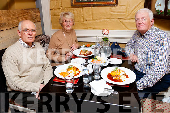 Buddy O'Grady with Vincent O'Mahony and Patricia O'Mahony, enjoying a night out in the Brogue Inn, Tralee, on Saturday night last.