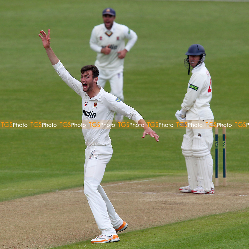 Reece Topley of Essex appeals successfully for the wicket of Murray Goodwin - Glamorgan CCC vs Essex CCC - LV County Championship Division Two Cricket at the Swalec Stadium, Cardiff, Wales - 17/05/13 - MANDATORY CREDIT: Gavin Ellis/TGSPHOTO - Self billing applies where appropriate - 0845 094 6026 - contact@tgsphoto.co.uk - NO UNPAID USE.