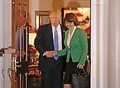 United States President-elect Donald Trump (L) greets Congresswoman Cathy McMorris from Washington State at the clubhouse of Trump International Golf Club, in Bedminster Township, New Jersey, USA, 20 November 2016.<br /> Credit: Peter Foley / Pool via CNP