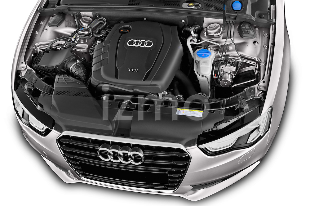 High angle engine detail of a 2014 Audi A5 Sportback AMBIENTE 5 Door Hatchback 2WD