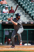 Lehigh Valley IronPigs first baseman Darin Ruf (28) at bat during a game against the Buffalo Bisons on August 28, 2016 at Coca-Cola Field in Buffalo, New York.  Lehigh Valley defeated Buffalo 5-2.  (Mike Janes/Four Seam Images)