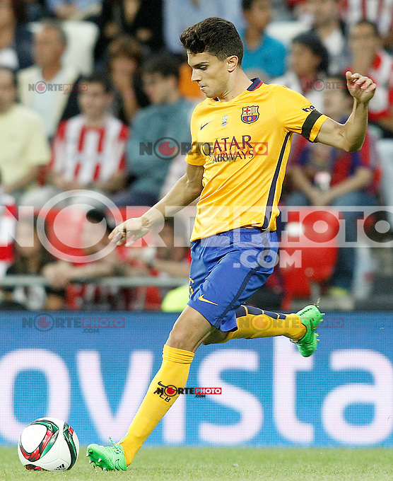 FC Barcelona's Marc Bartra during Supercup of Spain 1st match.August 14,2015. (ALTERPHOTOS/Acero)