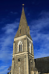 Victorian spire of St Andrew's church, Melton, Suffolk, England, UK