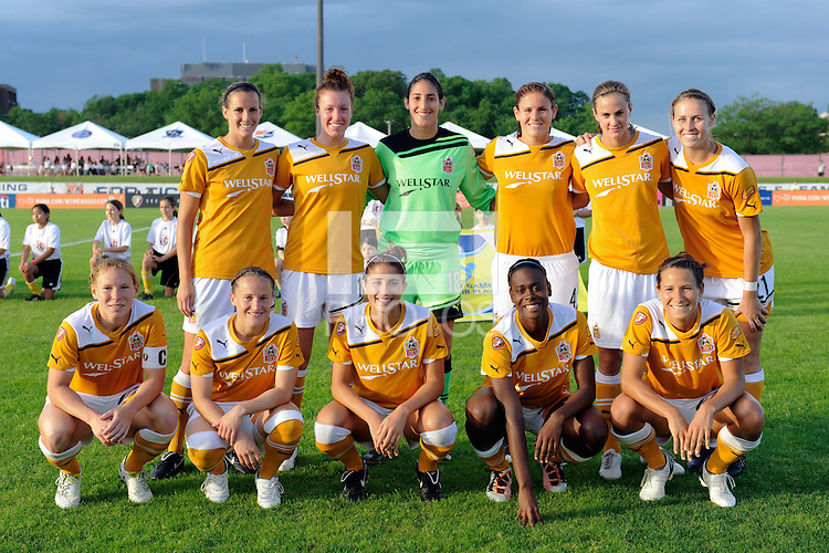 Atlanta Beat starting eleven. Sky Blue FC defeated the Atlanta Beat 3-0 during a Women's Professional Soccer (WPS) match at Yurcak Field in Piscataway, NJ, on May 21, 2011.