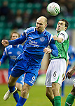 Hibs v St Johnstone....27.11.10  .Sam Parkin and Ian Murray.Picture by Graeme Hart..Copyright Perthshire Picture Agency.Tel: 01738 623350  Mobile: 07990 594431