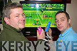 Paul Walsh and Will Norman getting in some practice for the Wii Luv Wednesday's where customers compete against each other on the Wii console in PF McCarthy's bar Kenmare