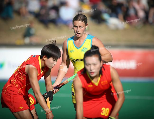 FIH Pro League 2019<br /> Hobart 09/02/2019<br /> Hockeyroos v China<br /> <br /> <br /> Photo: Grant Treeby