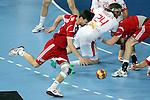Zubai (25) vs Hansen (24). DENMARK vs HUNGARY: 28-26 - Quarterfinal.