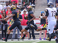 College Park, MD - September 9, 2017: Maryland Terrapins wide receiver D.J. Moore (1) returns a punt during game between Towson and Maryland at  Capital One Field at Maryland Stadium in College Park, MD.  (Photo by Elliott Brown/Media Images International)