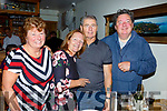 Enjoying the night in Bella Bia on Saturday night.<br /> Standing l-r, Mary Fusco, Pauline Barrett, Angelo Fusco and Eddie Barrett.