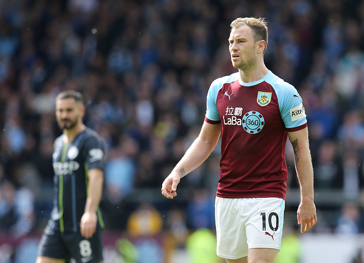 Burnley's Ashley Barnes<br /> <br /> Photographer Rich Linley/CameraSport<br /> <br /> The Premier League - Burnley v Manchester City - Sunday 28th April 2019 - Turf Moor - Burnley<br /> <br /> World Copyright © 2019 CameraSport. All rights reserved. 43 Linden Ave. Countesthorpe. Leicester. England. LE8 5PG - Tel: +44 (0) 116 277 4147 - admin@camerasport.com - www.camerasport.com