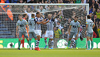 West Bromwich Albion's Jake Livermore celebrates scoring his side's second goal <br /> <br /> Photographer Kevin Barnes/CameraSport<br /> <br /> The EFL Sky Bet Championship - West Bromwich Albion v Blackburn Rovers - Saturday 31st August 2019 - The Hawthorns - West Bromwich<br /> <br /> World Copyright © 2019 CameraSport. All rights reserved. 43 Linden Ave. Countesthorpe. Leicester. England. LE8 5PG - Tel: +44 (0) 116 277 4147 - admin@camerasport.com - www.camerasport.com