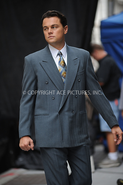 WWW.ACEPIXS.COM . . . . . .August 25, 2012...New York City....Leonardo DiCaprio on the Wolf of Wolf Street Film Set in the Financial District  of Manhattan on August 25, 2012 in New York City. ....Please byline: KRISTIN CALLAHAN - WWW.ACEPIXS.COM.. . . . . . ..Ace Pictures, Inc: ..tel: (212) 243 8787 or (646) 769 0430..e-mail: info@acepixs.com..web: http://www.acepixs.com .