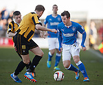 DAvid Templeton takes on the East Fife rearguard