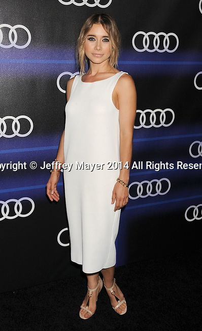 LOS ANGELES, CA- AUGUST 21: Actress Olesya Rulin arrives at the Audi Emmy Week Celebration at Cecconi's Restaurant on August 21, 2014 in Los Angeles, California.