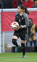 20180406 - LEUVEN , BELGIUM : Portugese Ines Pereira  pictured during the female soccer game between the Belgian Red Flames and Portugal , the fourth game in the qualificaton for the World Championship qualification round in group 6 for France 2019, Friday 6 th April 2018 at OHL Stadion Den Dreef in Leuven , Belgium. PHOTO SPORTPIX.BE | DIRK VUYLSTEKE