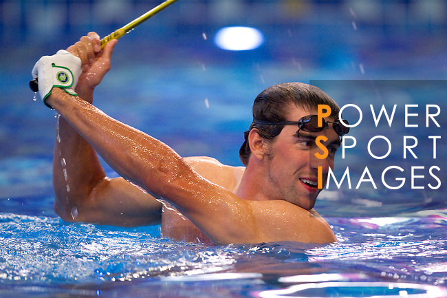 Michael Phelps of USA during the Mission Hills Star Trophy on October 30, 2010 in Haikou, China. Photo by Victor Fraile / The Power of Sport Images